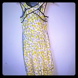 NWT Maggie London Yellow Floral Dress